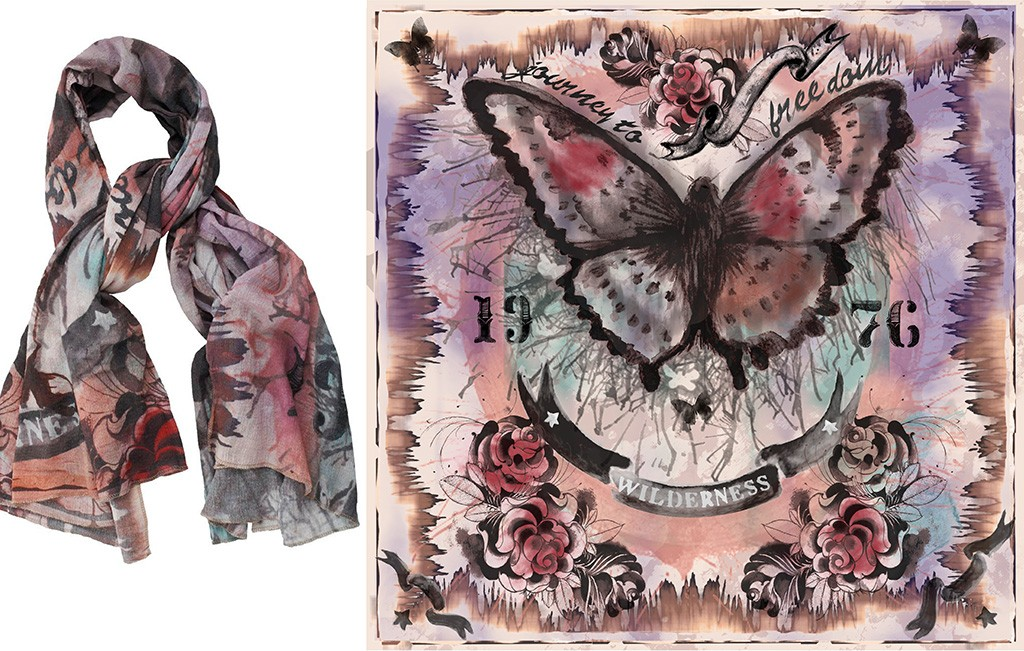 sign-d scarf bUTTERFLY 1